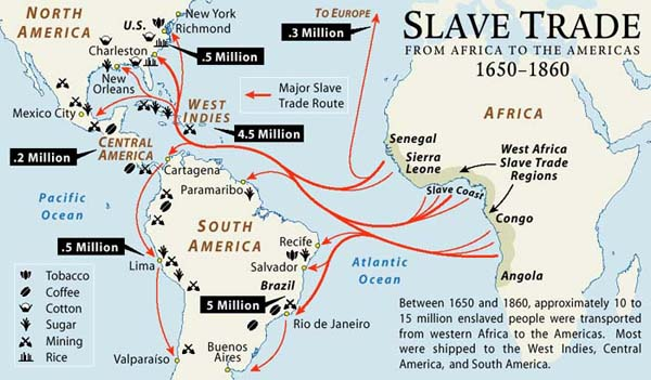 Maps Africa And The Trans Atlantic Slave Trade